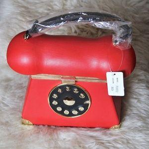 Handbags - NWT Red TELEPHONE Purse Shoulder Bag Handbag